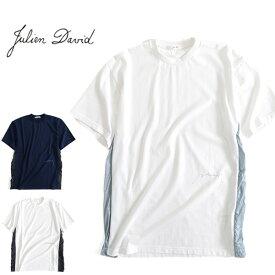 JULIEN DAVID ジュリアンデイヴィッド サイドライン ビッグTシャツ TMS-1809 ワイドTシャツ (メンズ)