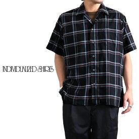 INDIVIDUALIZED SHIRTS インディビジュアライズドシャツ アスレチックフィット オープンカラー チェックシャツ 開襟シャツ (メンズ)