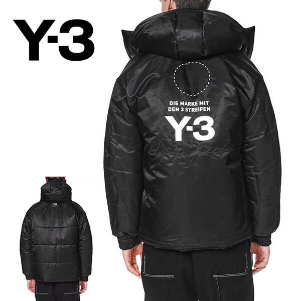 Y-3 ワイスリー リバーシブル フード付き ダウンジャケット DP7709 Yohji Yamamoto ヨウジヤマモト (メンズ)