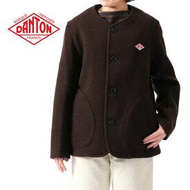 DANTON ダントン ウールモッサ カラーレス ジャケット JD-8903 ノーカラー ウールジャケット レディース
