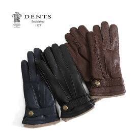 DENTS デンツ レザーグローブ 手袋 カシミア 5-1548 (メンズ)