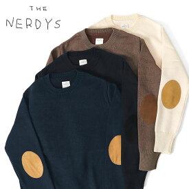 THE NERDYS ナーディーズ エルボーパッチ クルーネック ニットセーター TND-K01 (メンズ)
