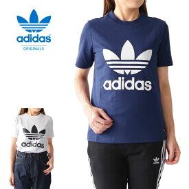 adidas アディダスオリジナルス スリムフィット トレフォイルロゴTシャツ 半袖Tシャツ (レディース)