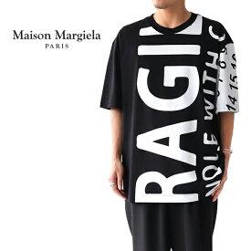 Maison Margiela メゾンマルジェラ FRAGILE ビッグロゴ オーバーサイズ Tシャツ S50GC0562 (メンズ)