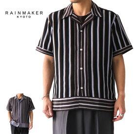 RAINMAKER レインメーカー マルチストライプ オープンカラーシャツ RM191-033 開襟シャツ (メンズ)