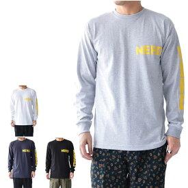 THE NERDYS ナーディーズ 袖ロゴ ロンT NSN-C06 長袖Tシャツ (メンズ)