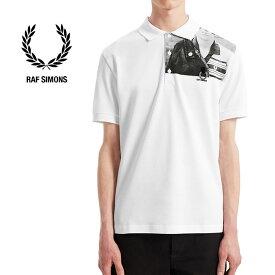 [SALE] Fred Perry by RAF SIMONS フレッドペリー ラフシモンズ フォトプリント 鹿の子 ポロシャツ SM7048 ピケ (メンズ レディース)