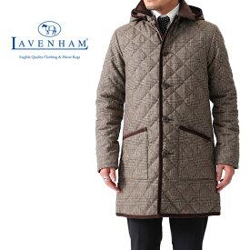 [SALE] LAVENHAM ラベンハム GRINSTEAD グリンステッド グレンチェック フード付き キルティングウールコート ロングコート (メンズ)