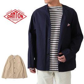 DANTON ダントン ノーカラージャケット JD-8040 DUK シャツジャケット (メンズ)