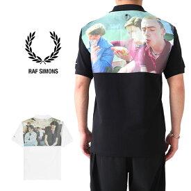 [SALE] FRED PERRY × RAF SIMONS フレッドペリー ラフシモンズ バックフォトプリント ポロシャツ SM8127 半袖ポロシャツ (メンズ レディース)