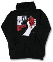 グリーンデイ(GREENDAY)グリーン・デイGREENDAYパーカー/ロックパーカー/プリントパーカー/rock/メンズ/レディース/キッズ/メンズパーカー/ロックファッション/パーカ/黒/ブラック/BLACK/トップスプルオーバー/band/バンド/Men'sRCP
