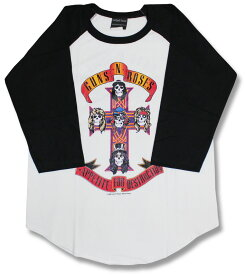 ガンズ・アンド・ローゼズ ラグランTシャツ GUNS N' ROSES 七分袖 7分袖 T-SHIRTS 七分丈 長袖 バンドtシャツ ロックtシャツ ROCK メンズ レディース キッズ ラグラン ロック ファッション GN'R