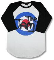 TheJamザ・ジャムラグランTシャツ/バンドTシャツ/ロックTシャツ/Rock/bandT-SHIRTS/パンク/ロックファッション/七分袖/7分袖/長袖/tシャツ/ベースボールシャツ/メール便OK売れ筋バーゲン/ポール・ウェラー/ターゲットマーク
