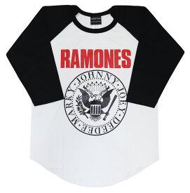 RAMONES ラグランTシャツ ラモーンズ tシャツ 長袖 七分袖 7分袖 tシャツ パンク バンドTシャツ ロックTシャツ rock メンズ レディース ベースボールシャツ  punk rock