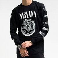 ニルバーナロンTニルヴァーナNIRVANAニルバーナロングTシャツ【バンドTシャツ】【ロックTシャツ】【メール便OK】【あす楽】【最安値挑戦】【売れ筋】【バーゲン】