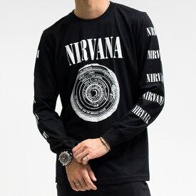 NIRVANA ニルバーナ ロンT ニルヴァーナ ロングTシャツ 長袖 バンドTシャツ ロックTシャツ ROCK メール便OK!!
