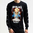 メタリカ Metallica ロンT ロングTシャツ 長袖 ロックTシャツ バンド Tシャツ ロック ファッション ROCK BAND T-SHIRTS ヘヴィメタルTシャツ メンズ レディース ユニ