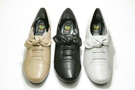 ゴールデンフット 婦人靴 6804 リボン ウォーキングシューズ