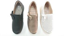 ゴールデンフット 婦人靴 2003 パンチング スリッポン 3E