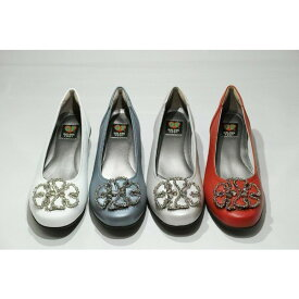 ゴールデンフット 婦人靴 7599 ビーズフラワー カジュアルシューズ カジュアルパンプス