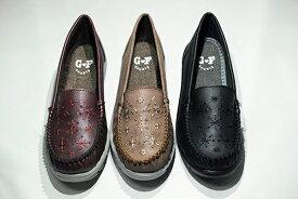 ゴールデンフット 婦人靴 722 軽量 カジュアルシューズ モカシン