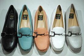 ゴールデンフット 婦人靴 6338 モカシンカジュアルシューズ 履きやすい フラット