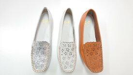 ゴールデンフット 婦人靴 775 パンチング ドライビングシューズ モカシン