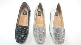 ゴールデンフット 婦人靴 5081 キラキラ ラインストーン モカシン