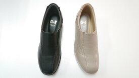 ゴールデンフット 婦人靴 602 サイドゴム スリッポン コンフォート 3E