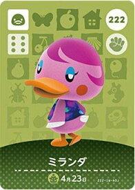 どうぶつの森 amiiboカード 第3弾 ミランダ No.222
