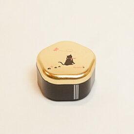 【金箔屋さくだ】福梅小箱 「黒にゃん」金沢箔工芸品 漆器 ギフト包装 のし 対応 小物入れ アクセサリーケース