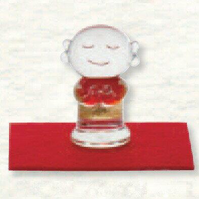 金箔入 手作り和硝子 福を招く「縁起物」 お地蔵様(小) ガラス置物
