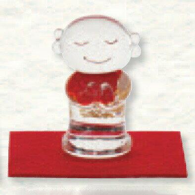 金箔入 手作り和硝子 福を招く「縁起物」 お地蔵様(大) ガラス置物