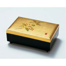 【金箔屋さくだ】匠宝石箱「千両」オルゴール付 金沢箔工芸品 ギフト包装 のし 対応 アクセサリーケース 小物入れ