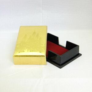 【金箔屋さくだ】名刺入「雪つり」金沢箔工芸品 ギフト包装 のし 対応 名刺 カードケース