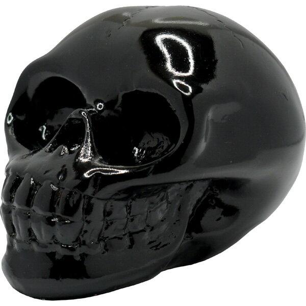リアルな造形のカラースカル オブジェ 置物 ブラック スカルコレクター必携のアイテム!