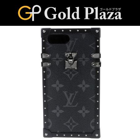 ルイヴィトン LOUIS VUITTON iphoneケース iphone7プラスカバー アイトランク M64404 モノグラム エクリプス 携帯ケース【中古】