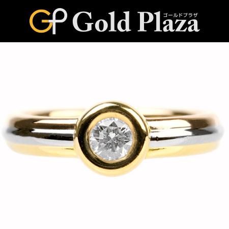 カルティエ Cartier モノストーン ダイヤモンド リング #51 K18 スリーカラーゴールド 新品仕上げ【中古】