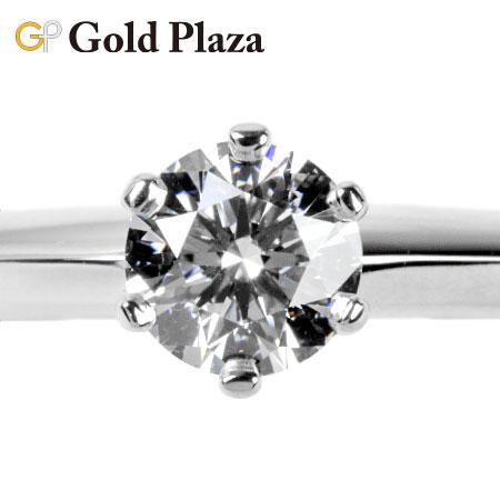 ティファニー Tiffany&Co. ソリティア ダイヤモンド 0.32ct(G/VS1) リング 11号 Pt950 ティファニー セッティング 新品仕上げ済 【中古】