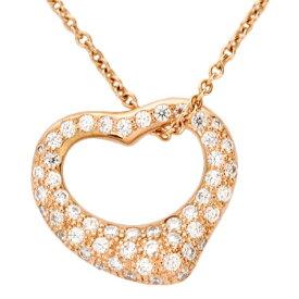 ティファニー Tiffany&Co オープン ハート ダイヤモンド ペンダント ネックレス 44.5cm K18PG 【中古】