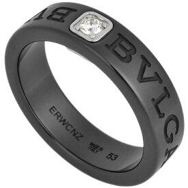 ブルガリ BVLGARI ブルガリブルガリ ダブルロゴ リング ダイヤモンド セラミック K18WG #53【中古】