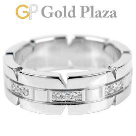 カルティエ Cartier タンクフランセーズ 24P ダイヤモンド 0.17ct リング K18WG(ホワイトゴールド) 8.6g レディース #51(日本サイズ11号) B4060100【中古】