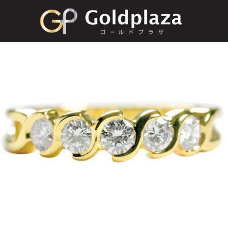 ティファニー Tiffany&Co ダイヤ 5P リング K18イエローゴールド 750刻印 新品仕上げ済み サイズ 10号【中古】