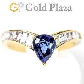 ピキョッティ PICCHIOTTI サファイヤ 0.83ct ダイヤモンド 0.62ct リング K18YG 3.4g #11.5 【中古】
