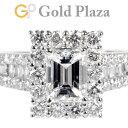 ダイヤモンド 1.041ct 0.87ct エメラルドカット ソリテール リング Pt900 6.1g 日本サイズ:12号 ノーブランド レディ…
