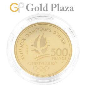フランス アルベールビル 五輪記念 500フラン 金貨 1992年 アルペンスキーとモンブラン K22 17.0g オリンピック コレクターズアイテム