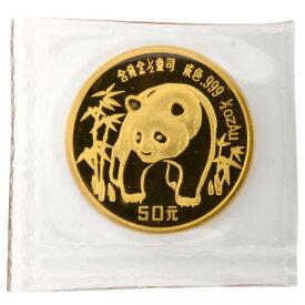 1986年 中華人民共和国(中国) パンダ 金貨 コイン 1/2オンス(15.5g) 純金 50元 熊猫金貨幣 コレクターズアイテム
