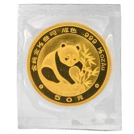 1988年 中華人民共和国(中国) パンダ 金貨 コイン 1/2オンス(15.5g) 純金 50元 熊猫金貨幣 コレクターズアイテム