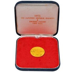 1975年 天皇皇后両陛下 御訪米記念 金メダル K24 17.5g コレクターズアイテム