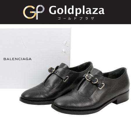 バレンシアガ Balenciaga ストラップドレスシューズ 36 1/2 ブラック レディース【中古】